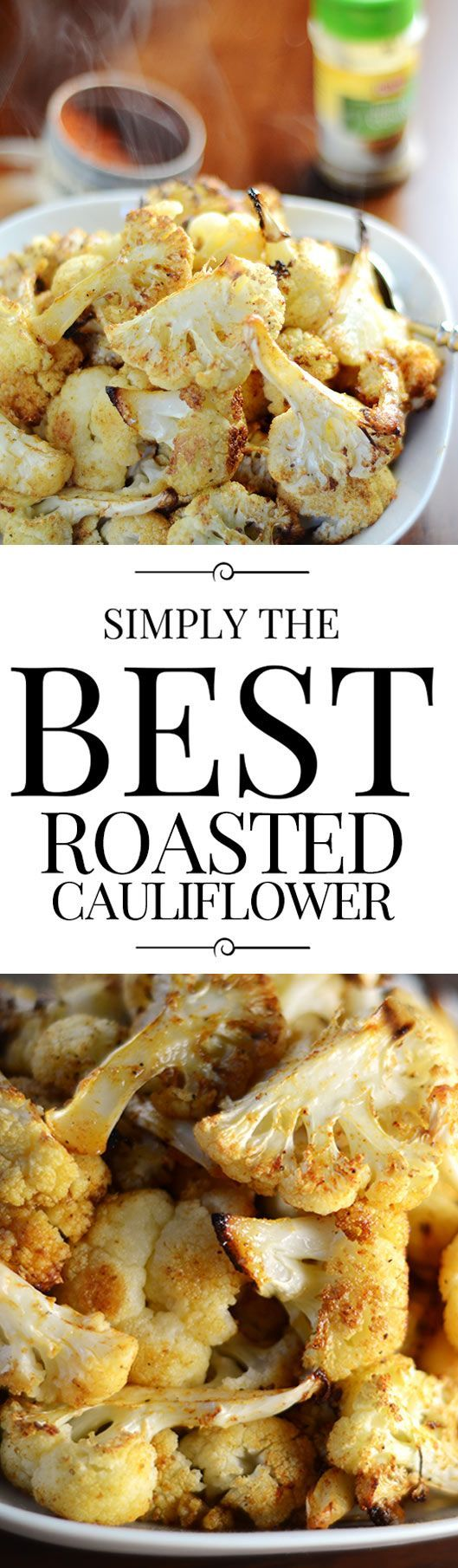 Roasting cauliflower is easy, fun and makes a delicious veggie side dish. Preparation is minimal with maximum flavors too!
