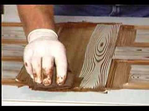 Making a steel door look like wood