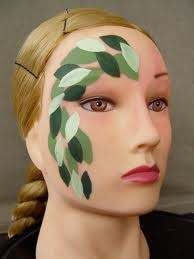 leaf painted on face