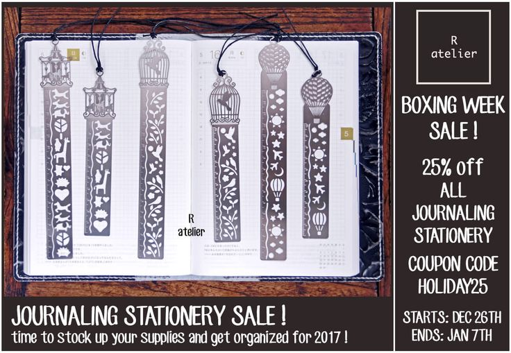 R.atelier Boxing Week Journaling Stationery Sale!