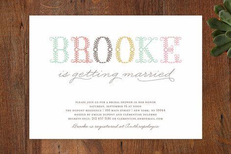 Polen Bride Bridal Shower Invitations