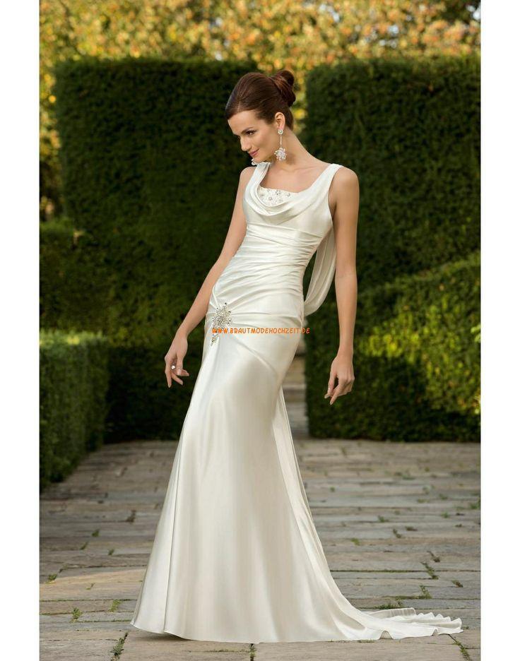 RONALD JOYCE INTERNATIONAL Sexy Moderne Brautkleider aus Stretchsatin