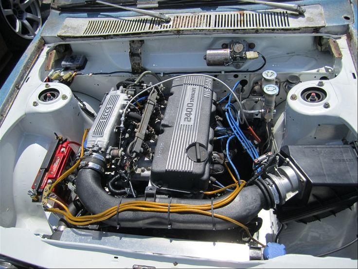 Nissan KA24 inside Datsun 510 engine bay | power ...