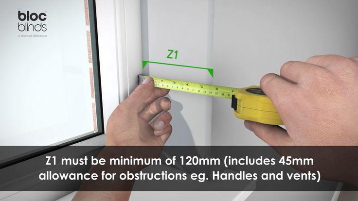 How to measure Zebra Roller Blind recess mount