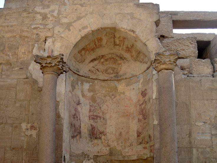 Tempio di Luxor, Egitto. Affresco romano, III secolo. Periodo di Diocleziano. I tetrarchi