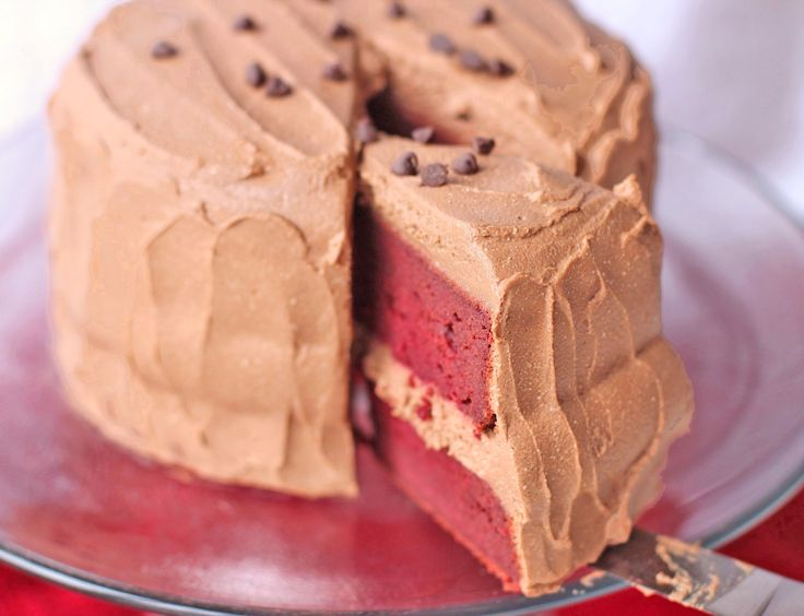 Healthy Vegan Red Velvet Cake With Chocolate Mousse Frosting To Celebrate My 24th Birthday