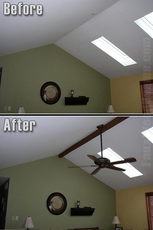 Fake Ceiling Beams Ideas   Tuscany Faux Beam Vaulted Ceiling Ideas