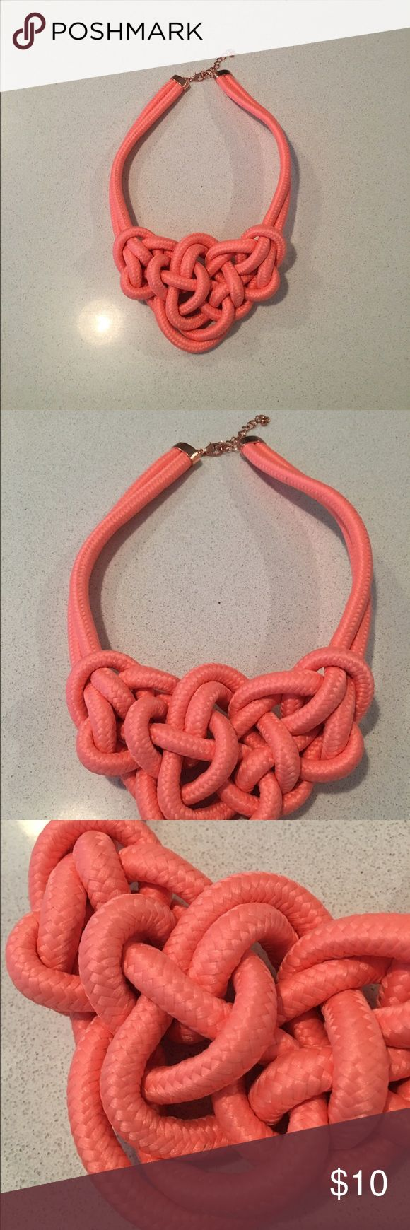 BNWOT Coral statement necklace Brand new, never worn gorgeous Coral statement necklace. Let me know if you have any questions. Jewelry Necklaces