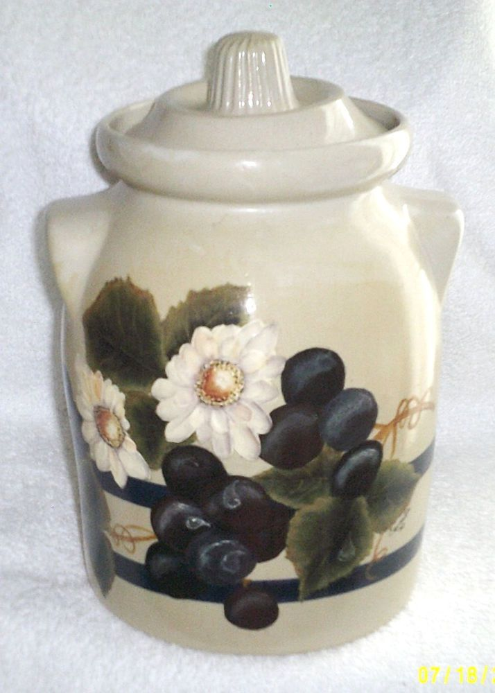 Robinson Ransbottom Pottery Cookie Jar Canister Crock