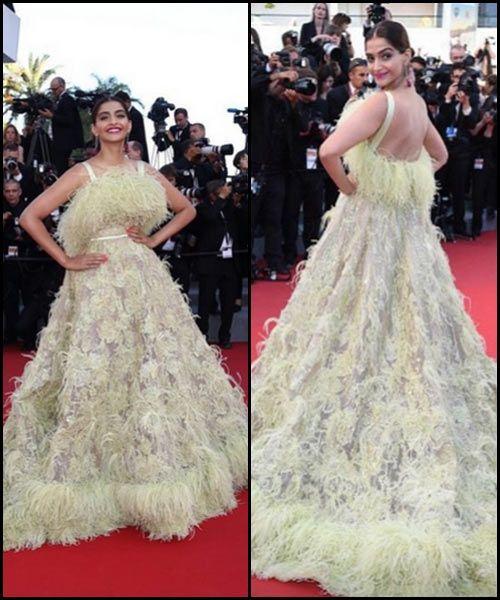 #9. Sonam Kapoor in Elie Saab -- #Cannes2015