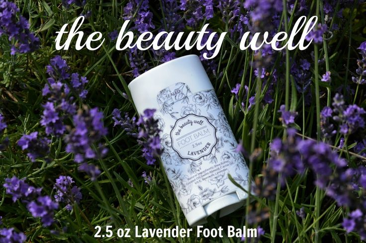 the beauty well 2.4 oz Lavender Foot Balm. Natural ingredients and handmade.https://www.facebook.com/thebeautywellTracyTodd/