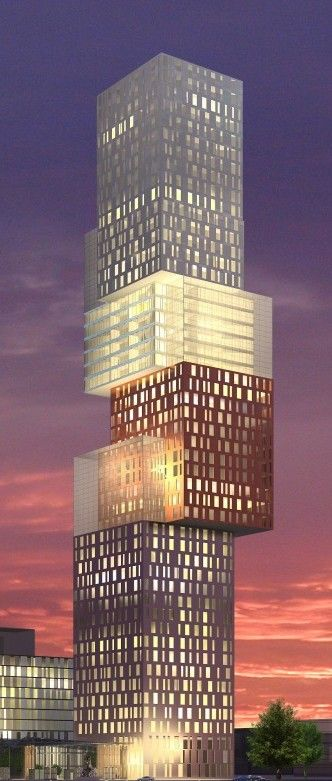 Astana Tower, Astana, Kazakhstan by Moshe Tzur Architects and Town Planners :: 47 floors, height 192m