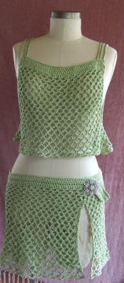 Hand Crocheted Cotton 2 Piece Bikini Cover - Special Order