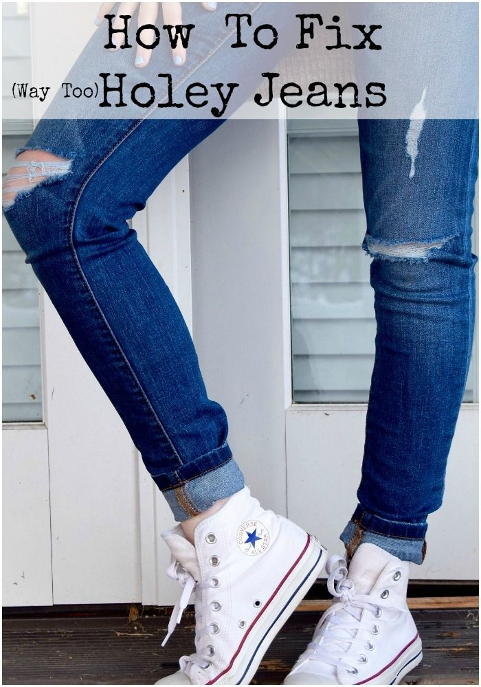 Have your favorite holey jeans gotten a little too holey? There is a little twist on this old fashion solution that will make your jeans even more fun!