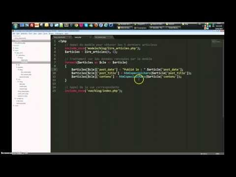 PHP - Approche MVC - YouTube