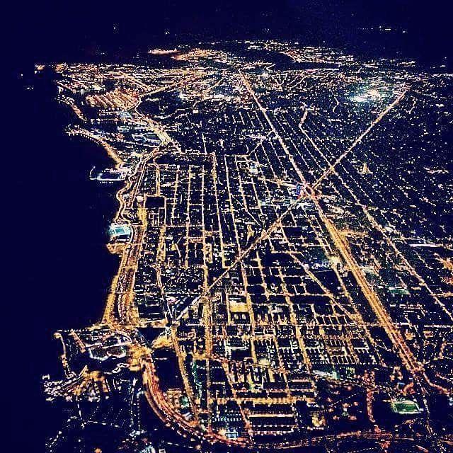 Barcelona desde el aire.