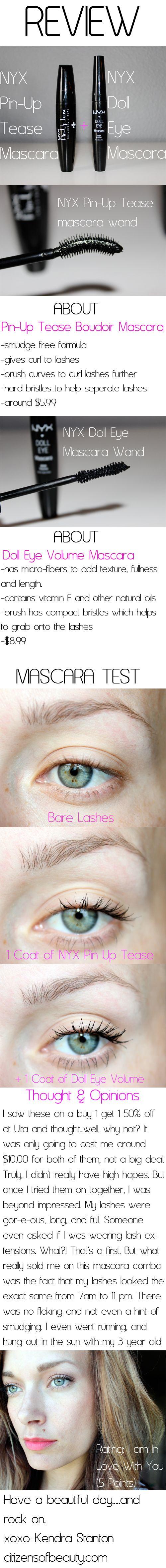 @NYX Cosmetics Mascara Combo Review. I am OBSESSED with this mascara combo. #NYXcosmetics #Mascara #Review
