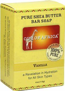 Out Of Africa - Vanilla Shea Butter Bar Soap, 4 oz bar soap by Out Of Africa. $3.29. Out of Africa; Out of Africa Shea Butter Bar Soap Vanilla-4 oz-Bar : 20% Organic Unrefined Shea Butter Shea Butter Hand Made in West Africa All Shea Butters are not created equal. Most other Shea Bar Soaps contains one or two percent Shea Butter. Helps provide education to children in West Africa Manufactured by Out of Africaandreg,.