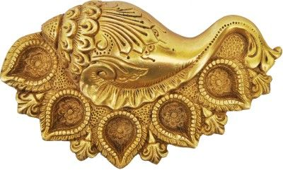 Aakrati Conch Shape Brass Table Diya Price in India - Buy Aakrati Conch Shape Brass Table Diya online at Flipkart.com