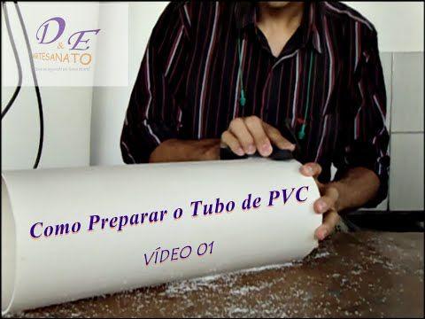 Luminária de PVC passo a passo Preparando o tubo. - YouTube