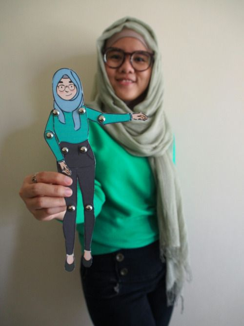 Costum-made Paper-doll Character