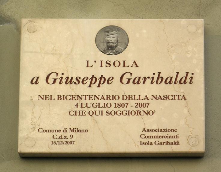 Milano Isola lapide Garibaldi