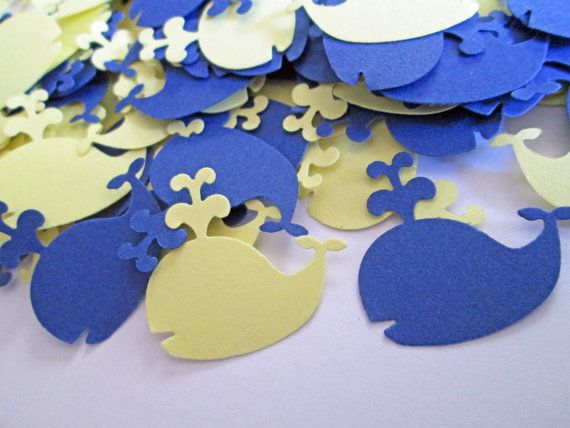 Whale Baby Shower, Baby Shower Confetti, Beach Baby Shower, Nautical Baby Shower, Custom Confetti (100 Count) on Etsy, $12.00