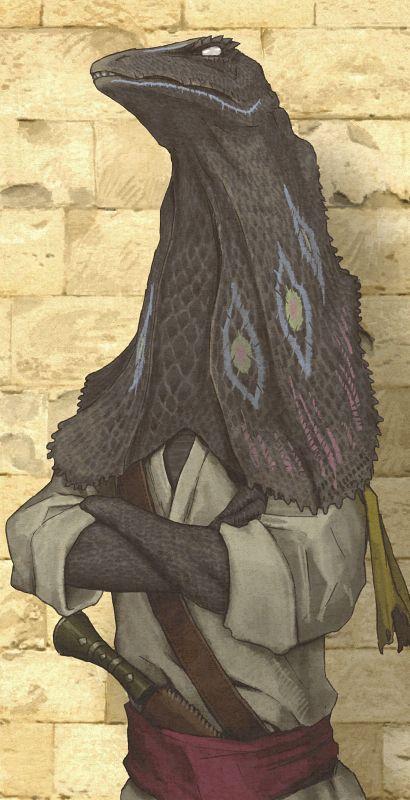 Lizardman, by Shoichi Furumi. Definitely a Fang of Dang.