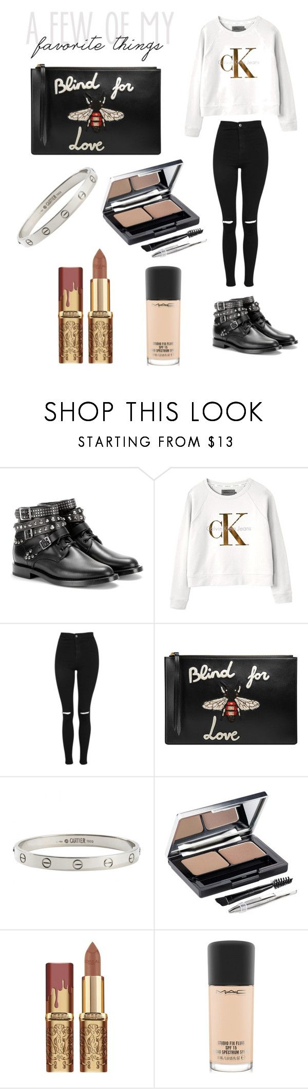 """""""Piscis"""" by scarcia-valentina ❤ liked on Polyvore featuring Yves Saint Laurent, Calvin Klein, Topshop, Gucci, Cartier, L'Oréal Paris, MAC Cosmetics and zodiaccollection"""
