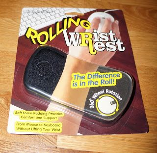 Rolling Wrist Rest from @Shoplet Discount Office Supplies