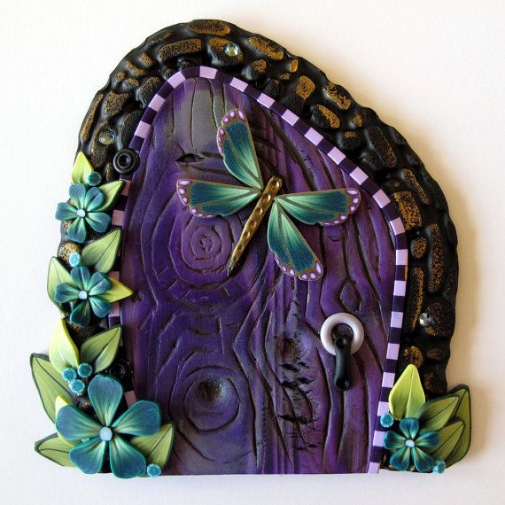 "I came across that and say to me ""its so pretty"" but what is that? Its a fairy door! yes! I want it."