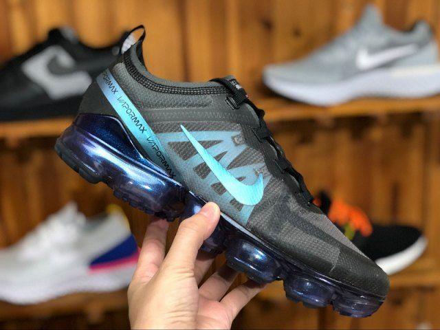 Nike Air VaporMax 2019 Black Blue Men's Running Sneakers