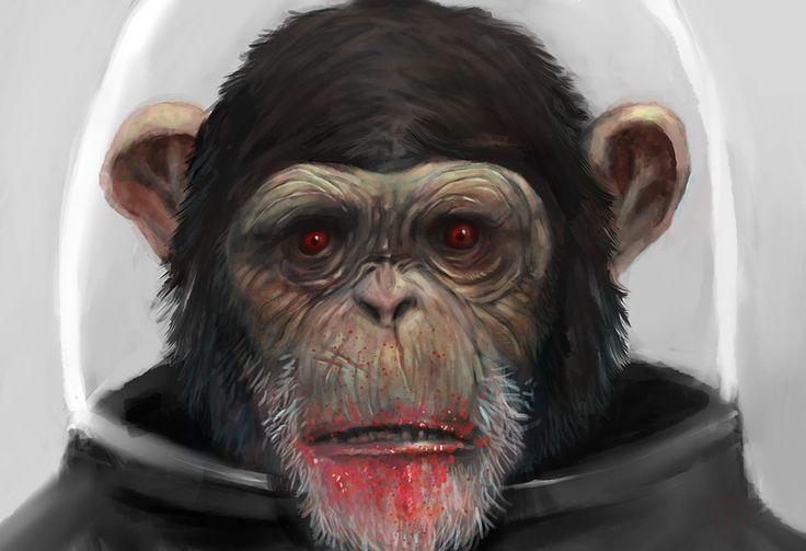 space_monkey_zombie_by_boehmke-d4h3r3d.jpg (855×585)