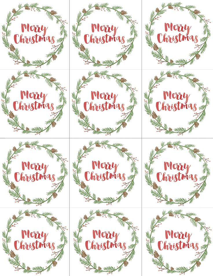 photograph about Printable Christmas Gift Tag called Hand Painted Present Tags No cost Printable Xmas