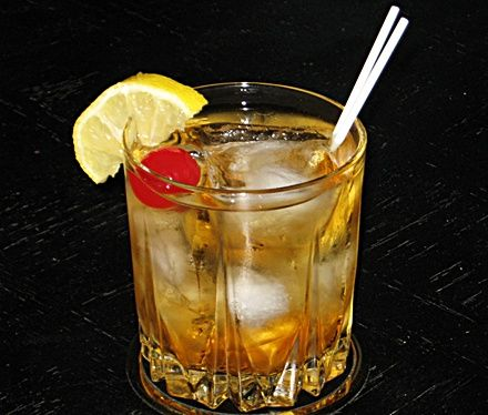 Alice In Wonderland (1 oz. Grand Marnier 1 oz. Amaretto 1 oz. Southern Comfort  2  oz. Club Soda)