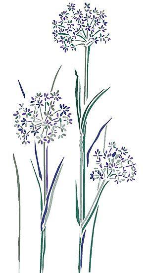 Cow parsley stencil