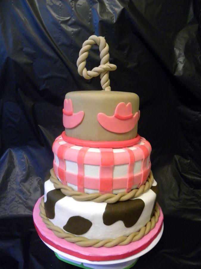 Cowgirl theme cake