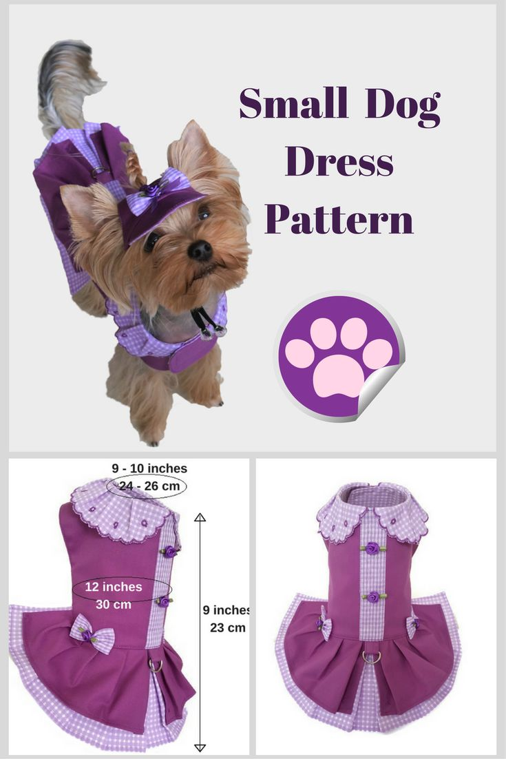 Small dog clothes Dog dress PDF dog clothes Pattern dog dress Small pet dog dress Pattern pet clothes Dog clothes pattern for XS size dog #smalldog #dogclothes #dogdresses #pattern #pdfsewingpattern #smalldogfashion #yorkieclothes