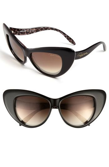 Create an entire look riffing on one standout accessory: Roberto Cavalli 58mm Retro Sunglasses at Nordstrom