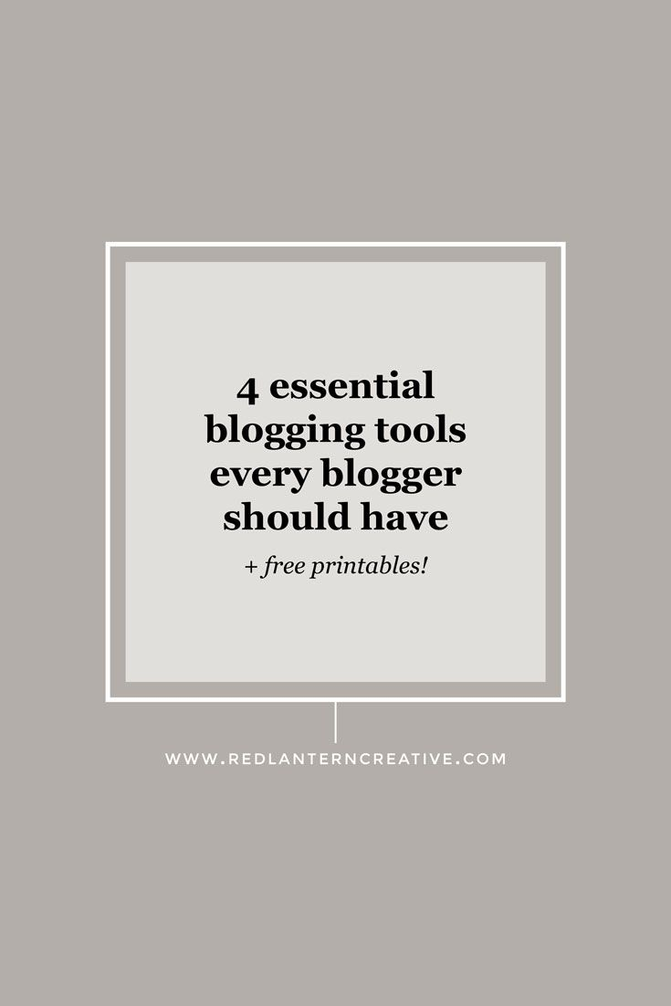 To be a successful blogger you can't just sit down, write a post and hit publish. Check out 4 blogging tools I use every week to make blogging easier.