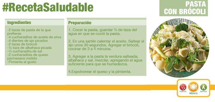 Pasta con brócoli. Una buena combinación para incluir más verduras en tu comida.