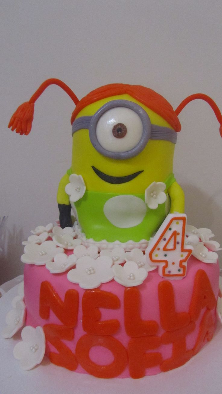 Minion Birthday Cake For A Girl Image Inspiration of Cake and