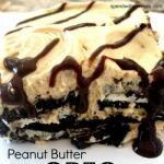 Peanut Butter Oreo Icebox Cake