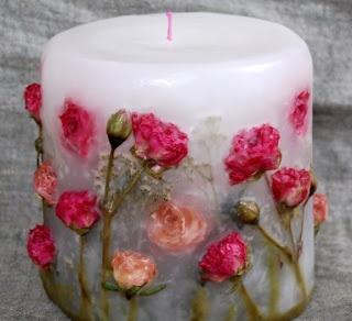 Como hacer velas decorativas con flores