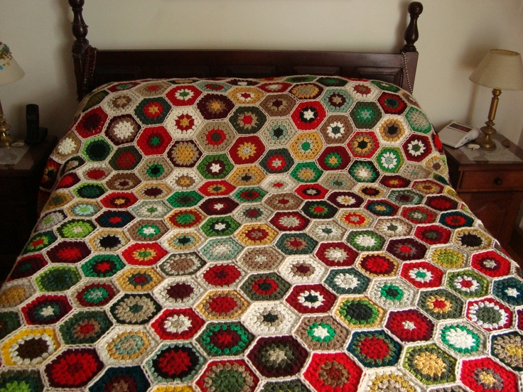 1000 images about colchas tejidas a crochet on pinterest - Colchas tejidas a crochet ...