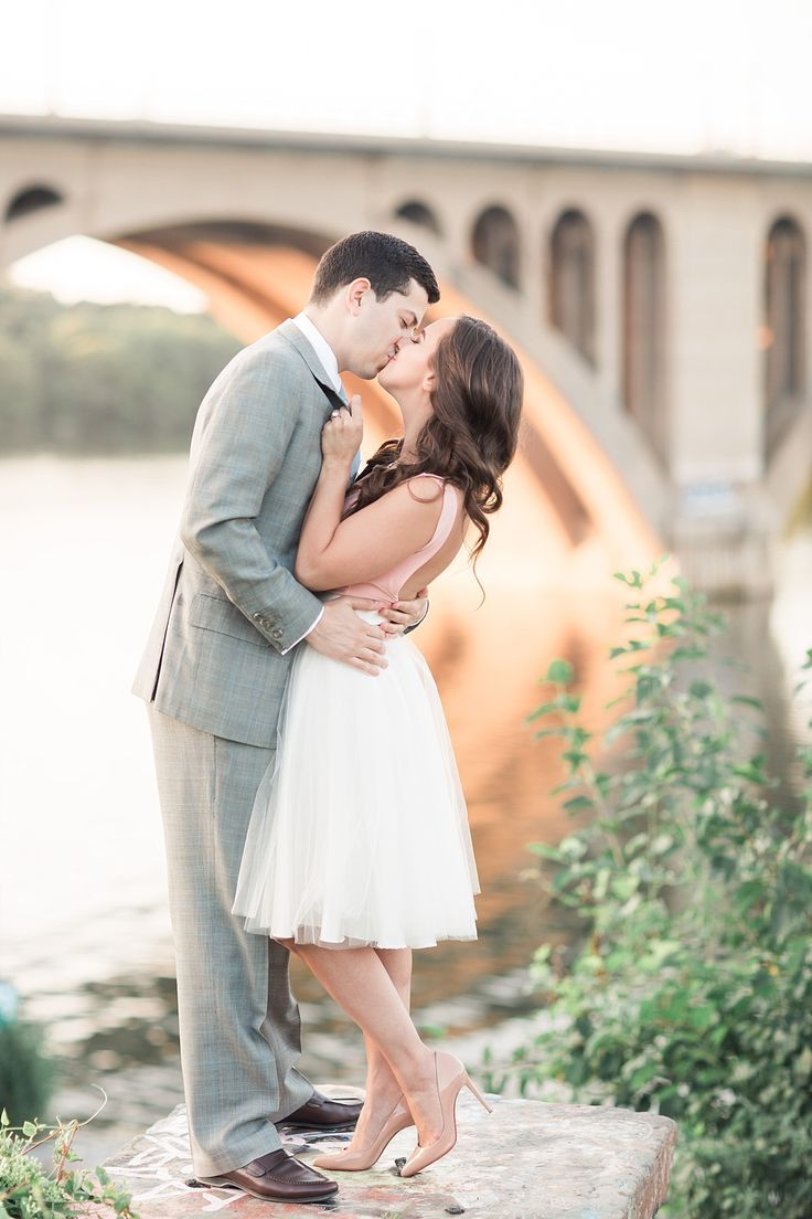 Stylish Georgetown Engagement Session