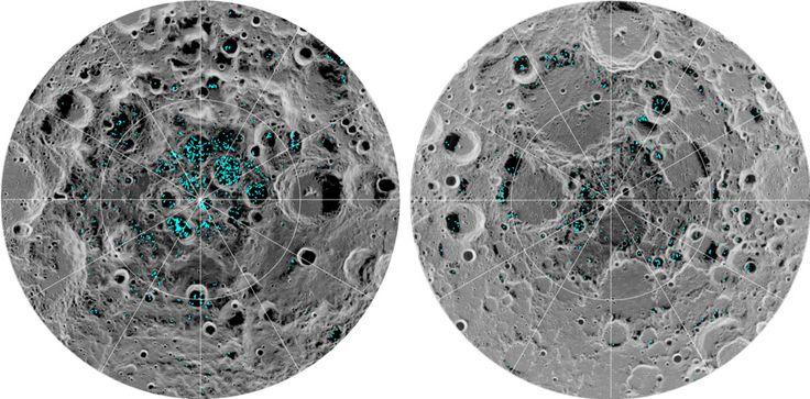 """Wissenschaftler haben auf dem Mond """"definitive Beweise"""" für Wassereis gefunden. Die Vorräte liegen demnach am Nord- und Südpol an der Oberfläche und könnten uralt sein. Das Eis findet sich … – Raquel"""
