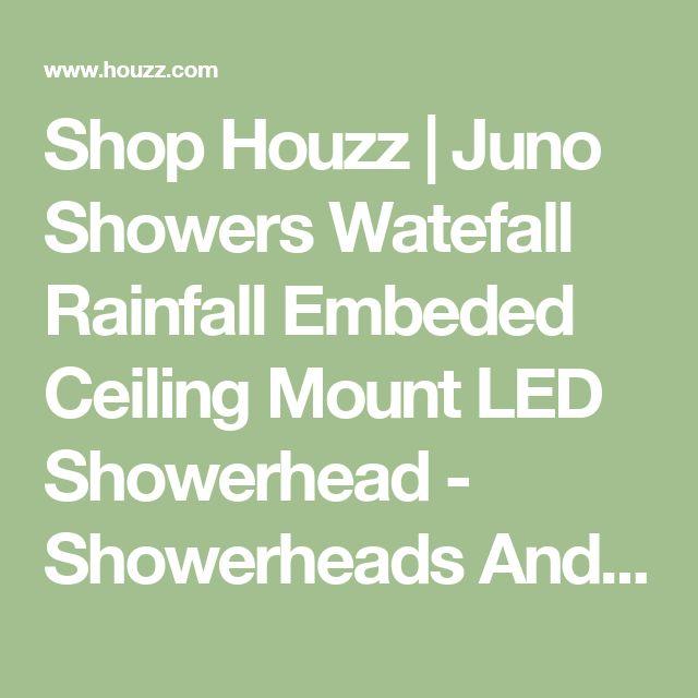 Shop Houzz | Juno Showers Watefall Rainfall Embeded Ceiling Mount LED Showerhead - Showerheads And Body Sprays