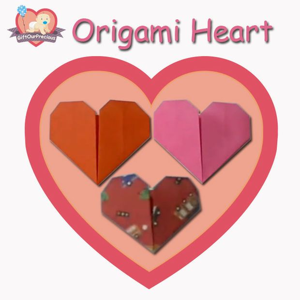 how to make origami heart easy