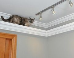 I think this looks especially good on rooms with crown molding